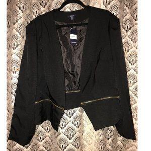 Samya | Black Zip-Waist Blazer 22
